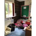 Class 1 has it's own library themed reading area.