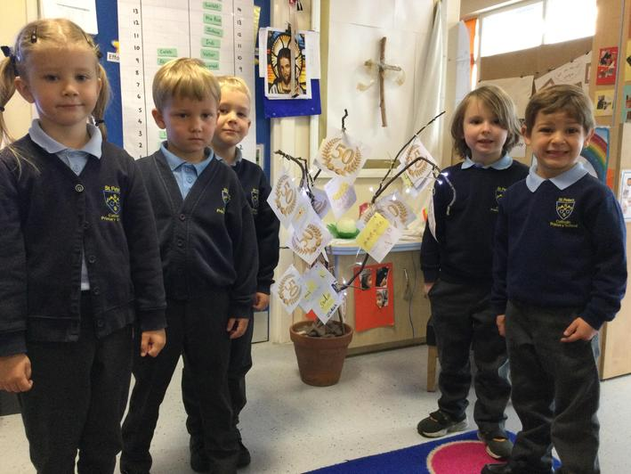we read our prayer as part of the school liturgy