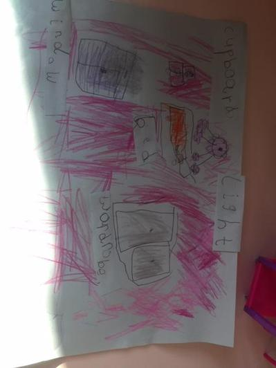 Suzy's bedroom drawing.