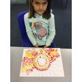 Abbie's sunshine dot painting