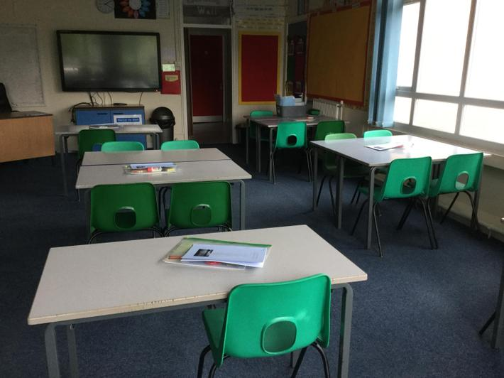 Environment ready for Y6 A pupils.