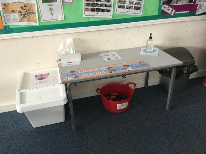 EYFS B     -cleaning station