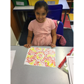 Adn's sunshine dot painting