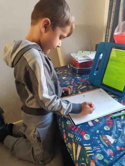 Leon working independently.