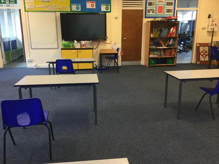 Environment ready for Y1 B pupils.
