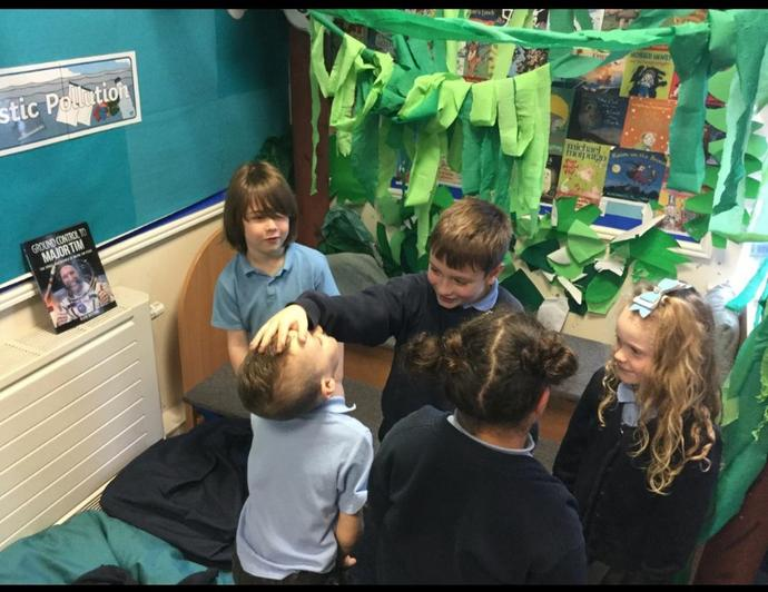 'Acting out a story' in the Reading Corner