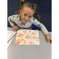 Tilly's sunshine dot painting