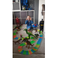 Grayson- dinosaur and super hero story.