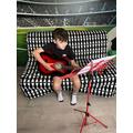 Bidding musician