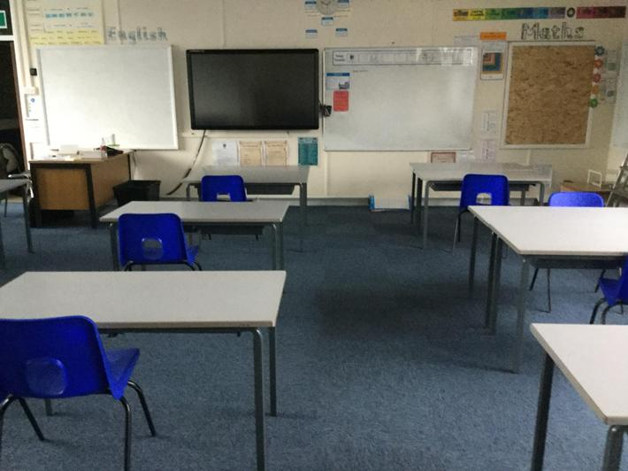 Environment ready for Y6 B pupils.