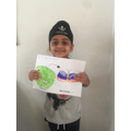 Raajveer's fab caterpillar to butterfly work.