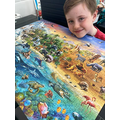 Aiden completed his puzzle