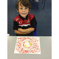 Henry's sunshine dot painting