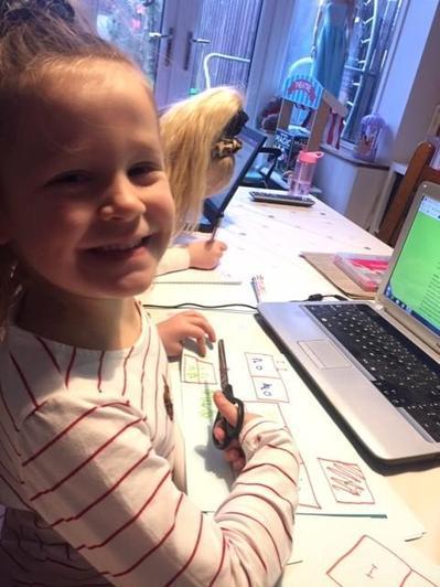 Suzy enjoying learning.