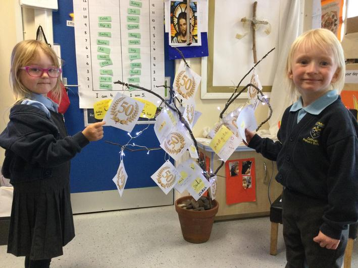 we placed prayers on to our prayer tree