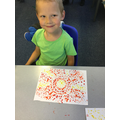 Milosz's sunshine dot painting