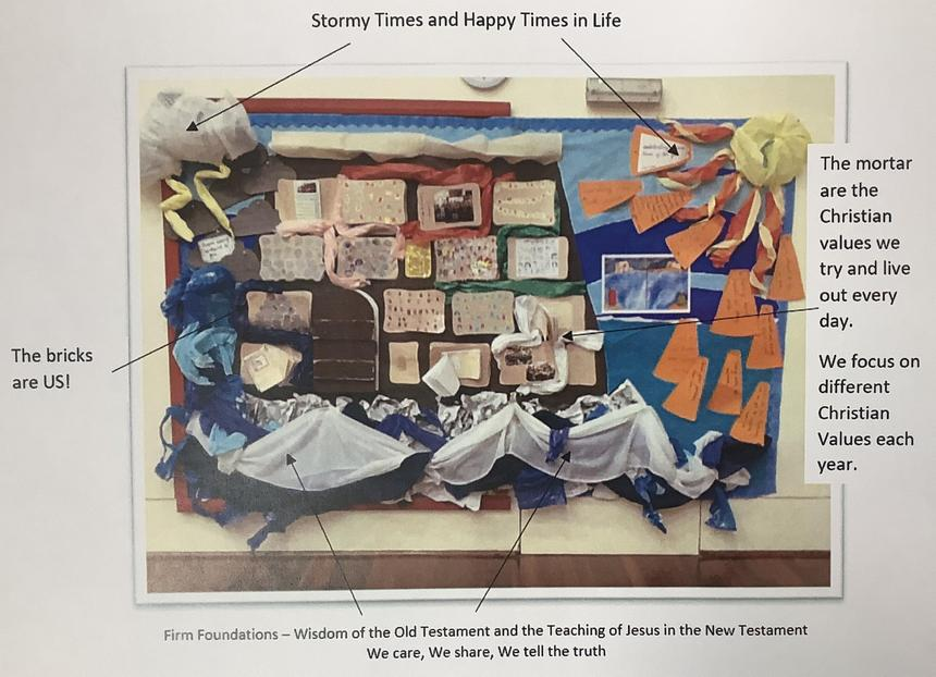 Every year we create a new Two Houses display in our hall.