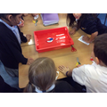 We made compasses using Magnets and water