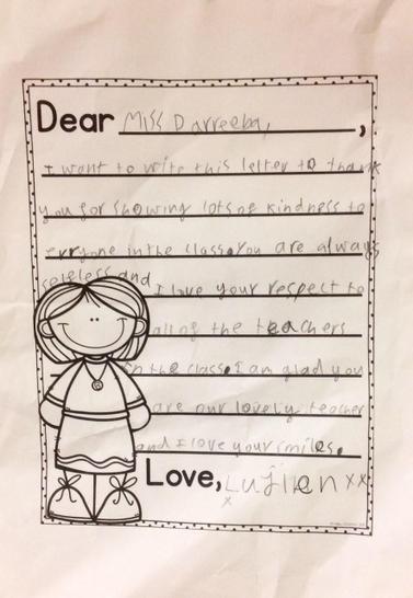 Lujien - kindness letter