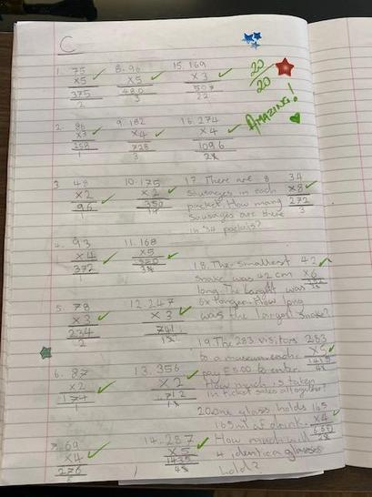 Well done Luisa on your fantastic maths work!