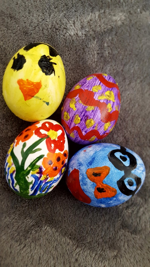 Here are some of Mattia's finished eggs.