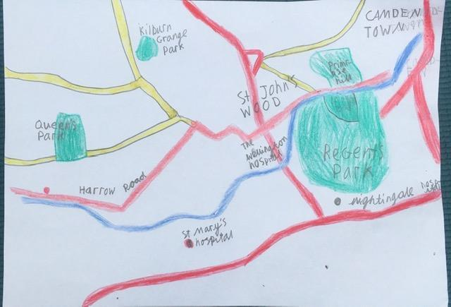 Imogen has drawn this great map of her local area!