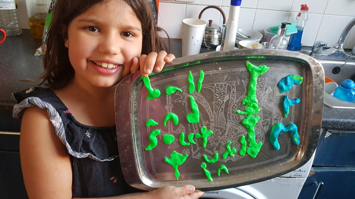 Zahra made different joints from plastecine!