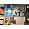 Buddhism display and artefact area in Year 4.