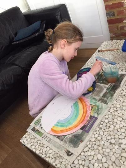 Working hard to create a fantastic rainbow