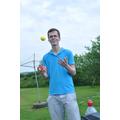 Mr Edney juggling challenge
