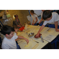 4F using weighing skills to make a pasty.
