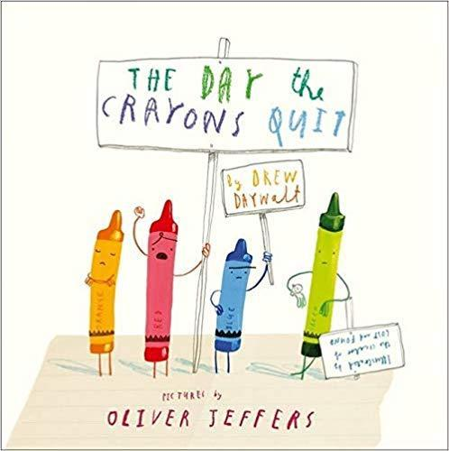 We then linked our art to the book 'The Day the Crayons Quit'