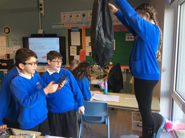 Children timed how for the parachute to fall