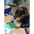 Doubles maths using beanstalk leaves