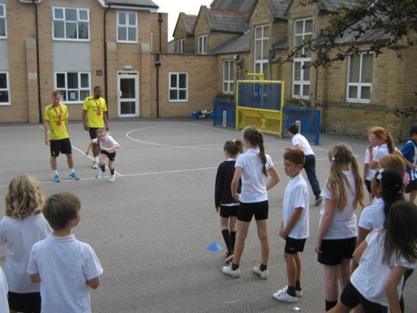 Southport FC Training with Year 5
