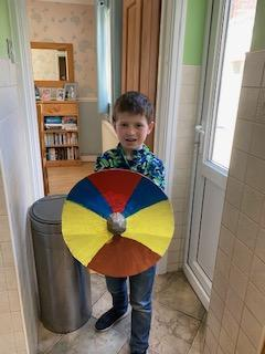 Josh With His Marvellous Shield
