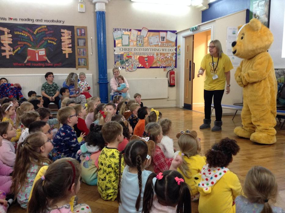 Pudsey joined us in assembly!