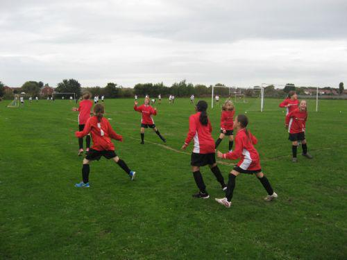 Our Year 5 Girl's football team in action!!!