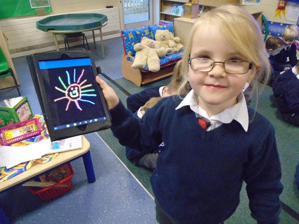 Creating pictures on the Ipads