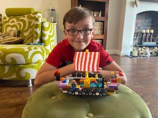 Theo Has Made His Viking Longboat From Lego