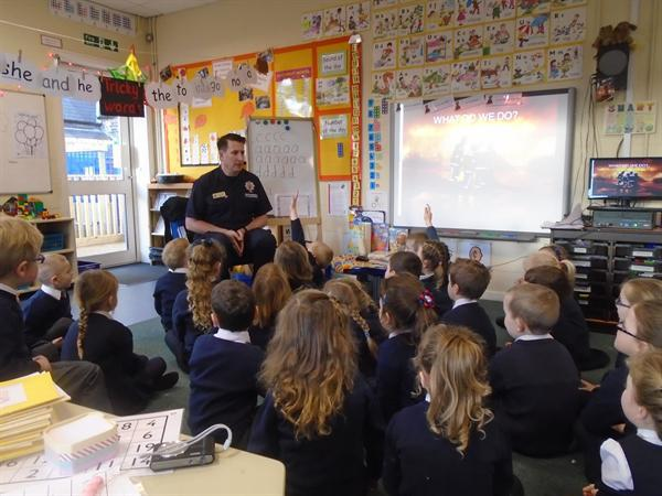 Mr Scott came to tell us about his job