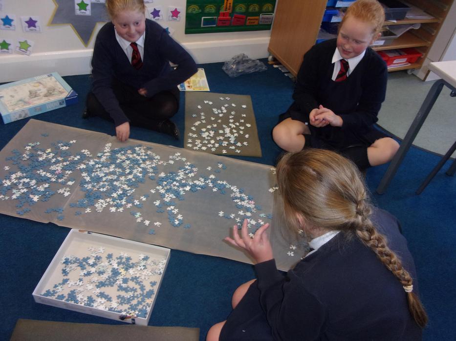 Our first 1000 piece jigsaw