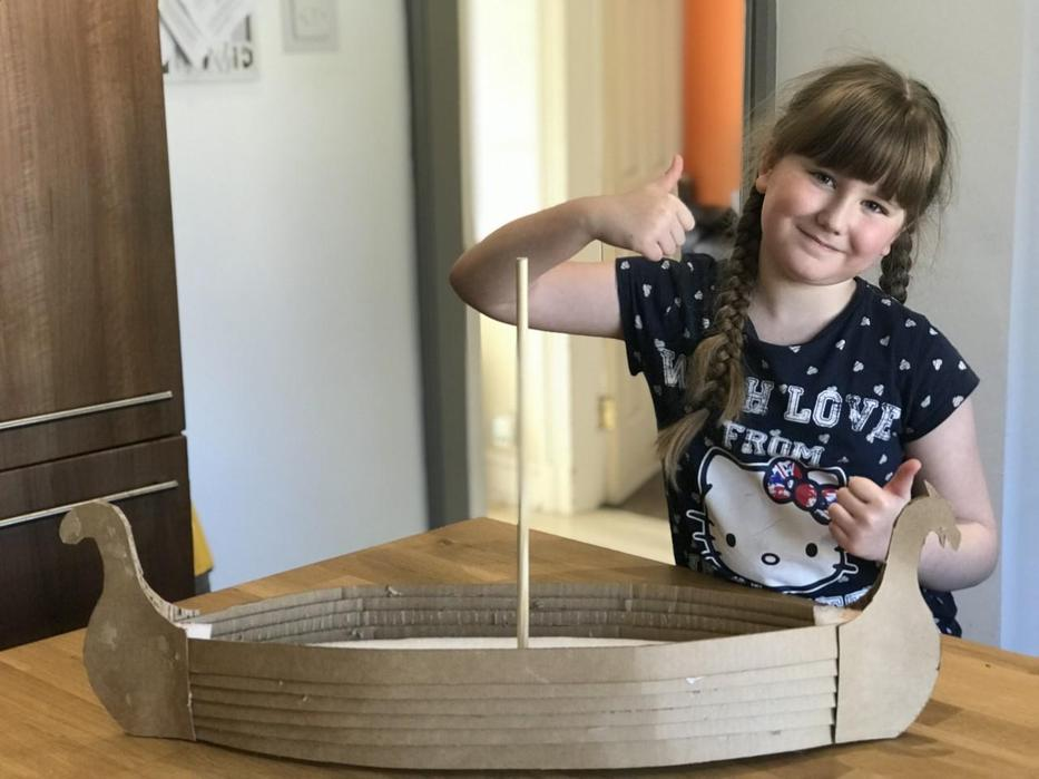 Eva's amazing longboat so far