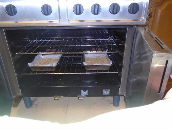 Making yummy flapjacks with porridge oats