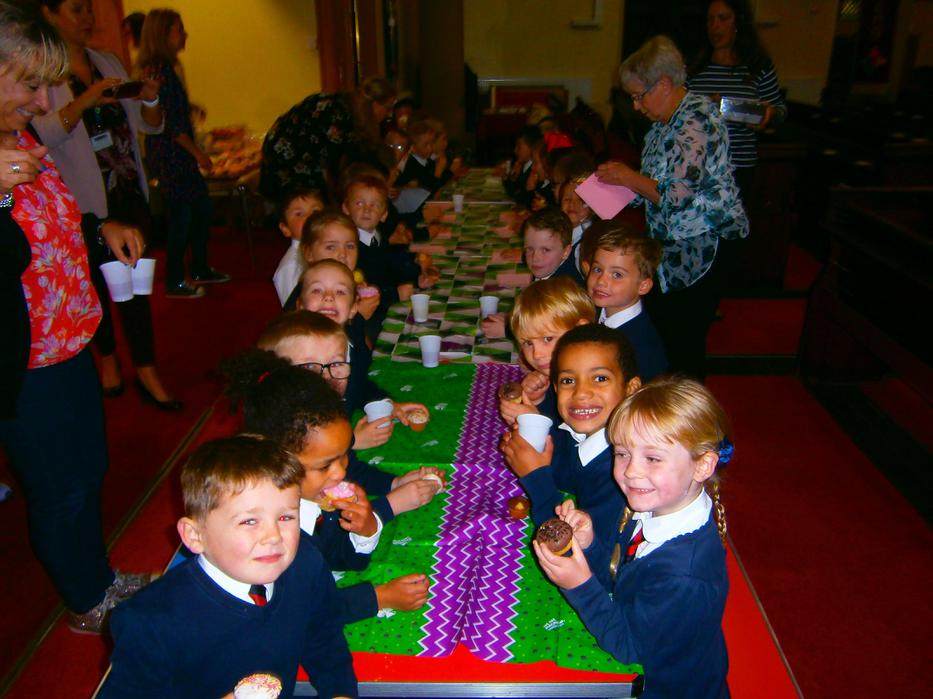 Yummy cakes in Church for the Macmillan morning.