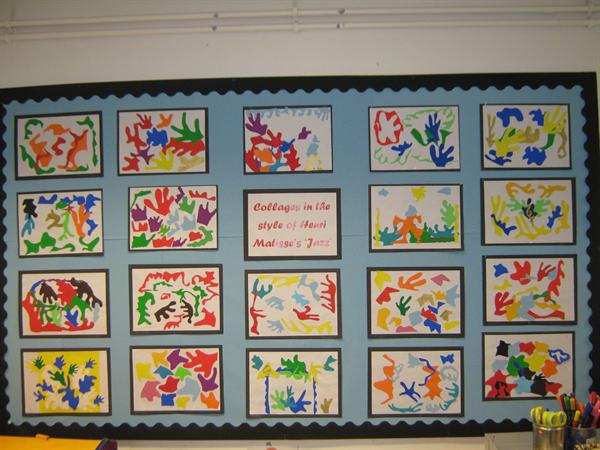 Collages in the style of Matisse's 'Jazz'