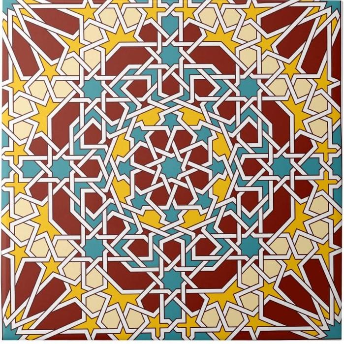 Islamic tile design
