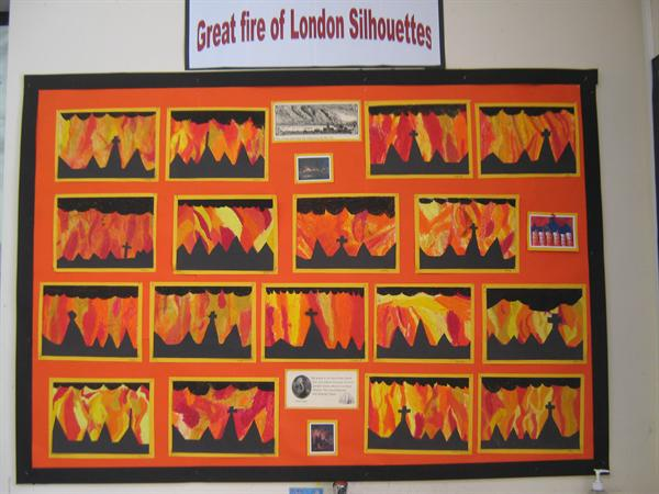 Great Fire of London Silhouettes
