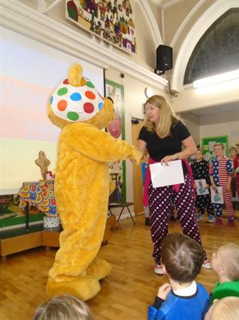 Pudsey came to visit!