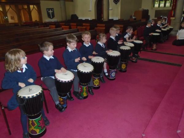 African drumming in Church